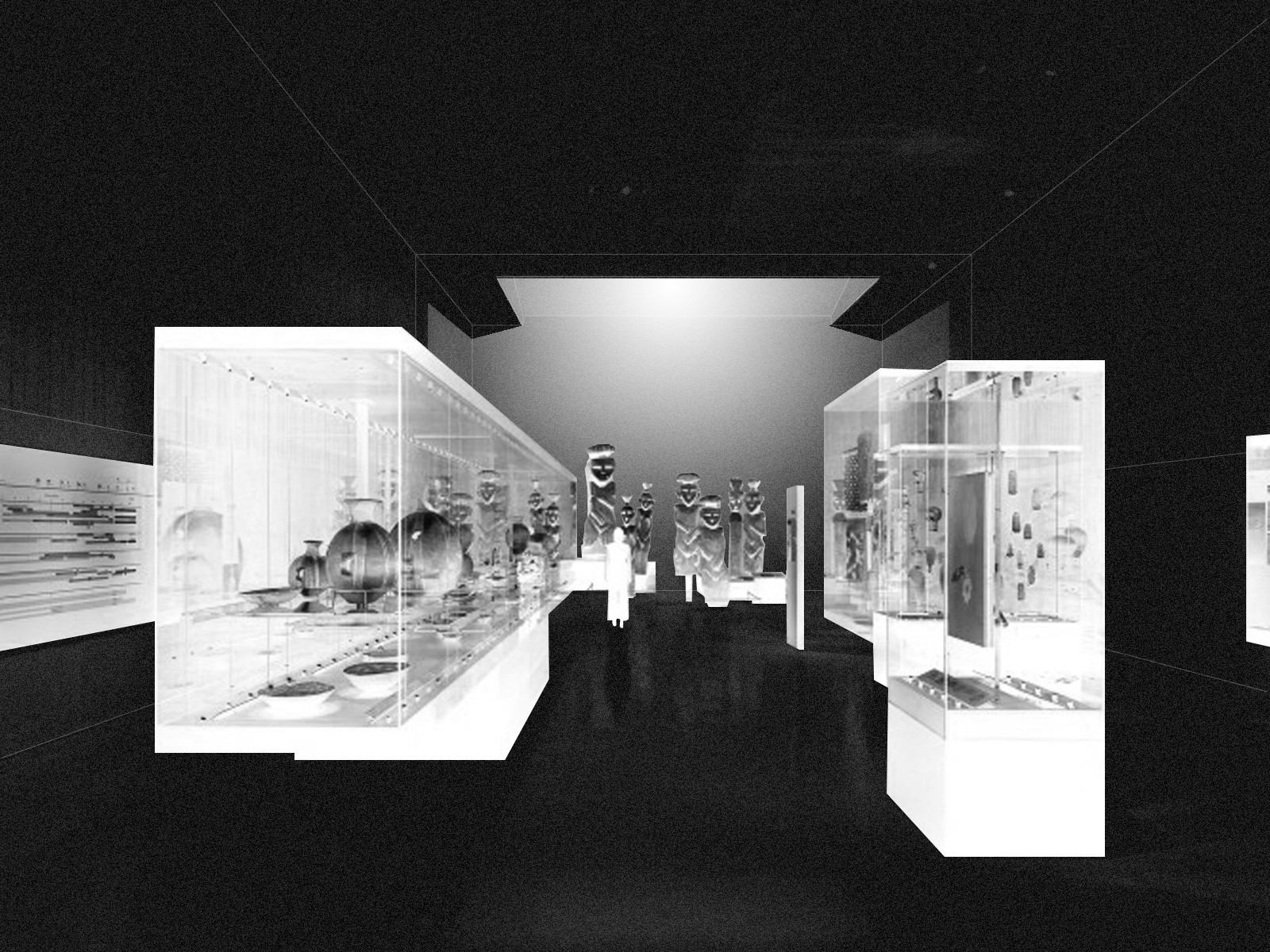 Las cajas de luz del Museo Chileno de Arte Precolombino. Image Cortesia de Óscar Aceves Álvarez