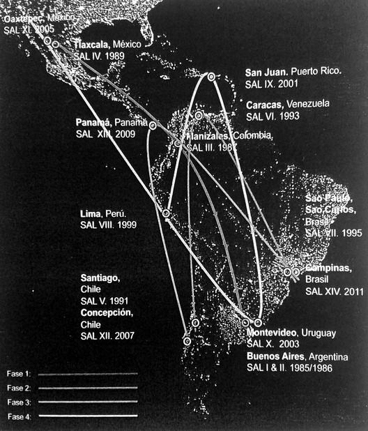 Geografía del pensamiento S.A.L.En: RAMIREZ, J. (2013). Las Huellas que revela el tiempo (1985-2011). Bogotá: Universidad Nacional de Colombia.. Image Cortesia de Óscar Aceves Álvarez