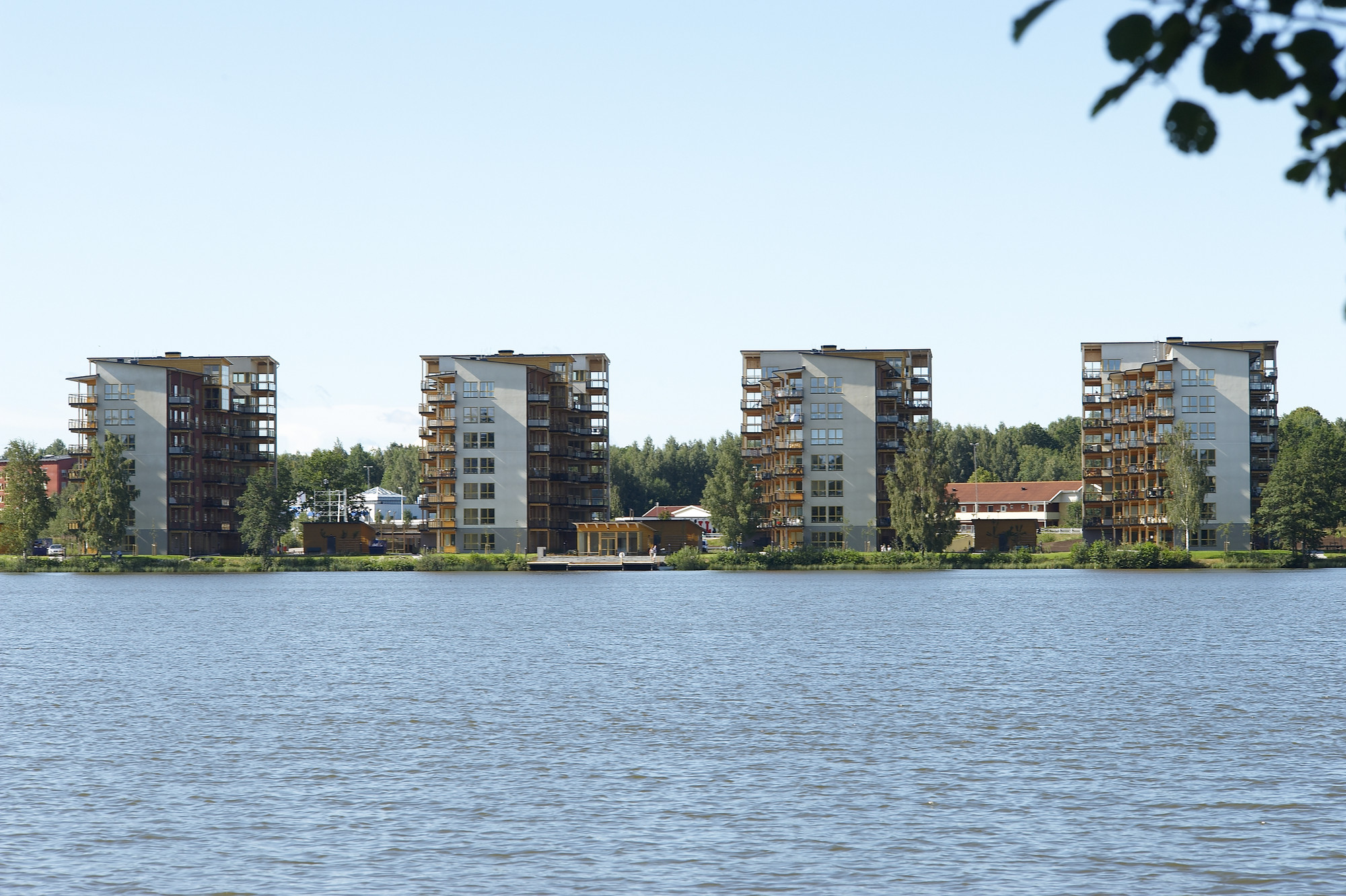 US Department of Agriculture Launches $2 Million Tall Wood Building Prize Competition, Limnologen in Växjö, Sweden. Image Courtesy of Midroc Property Development