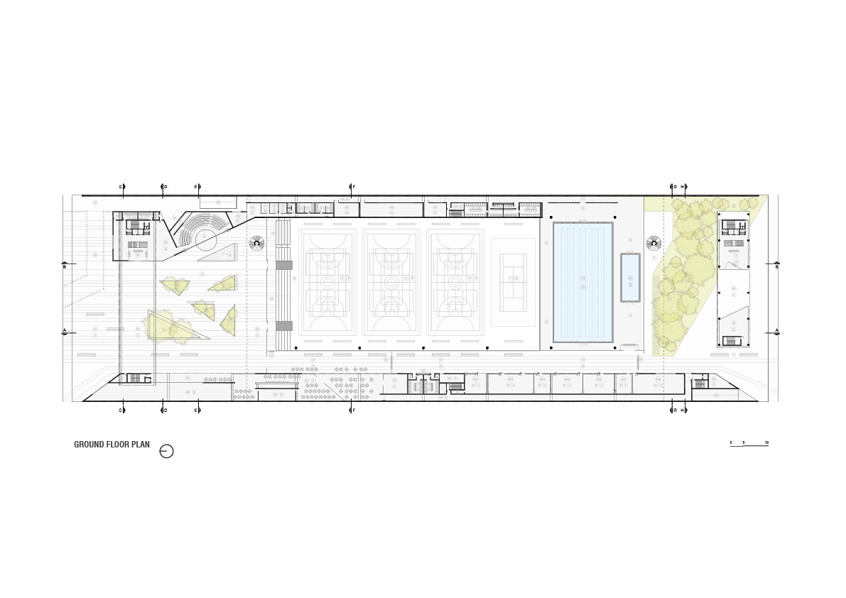 Ground Floor Plan. Image © OSPA Architecture and Urbanism