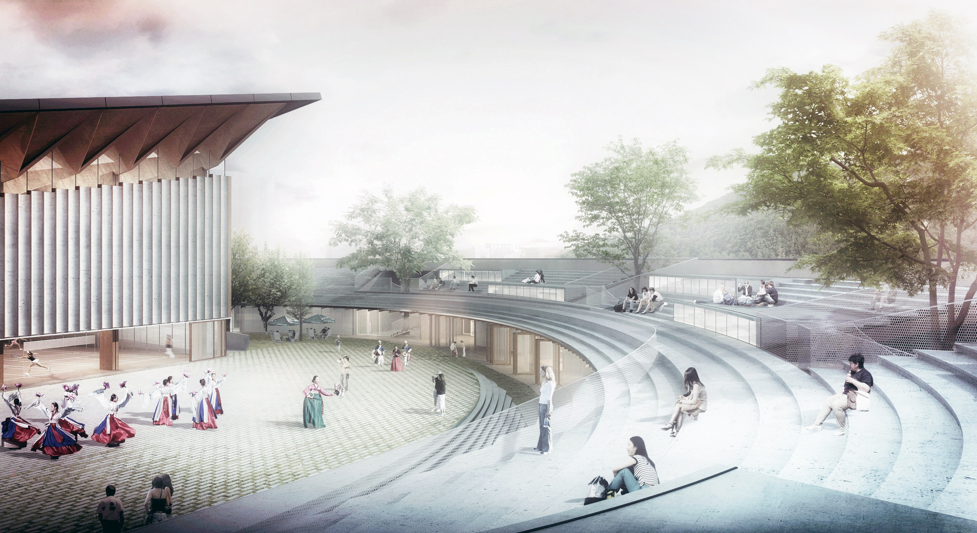 Competition entry noa s proposal for dalseong citizen 39 s for Schule design
