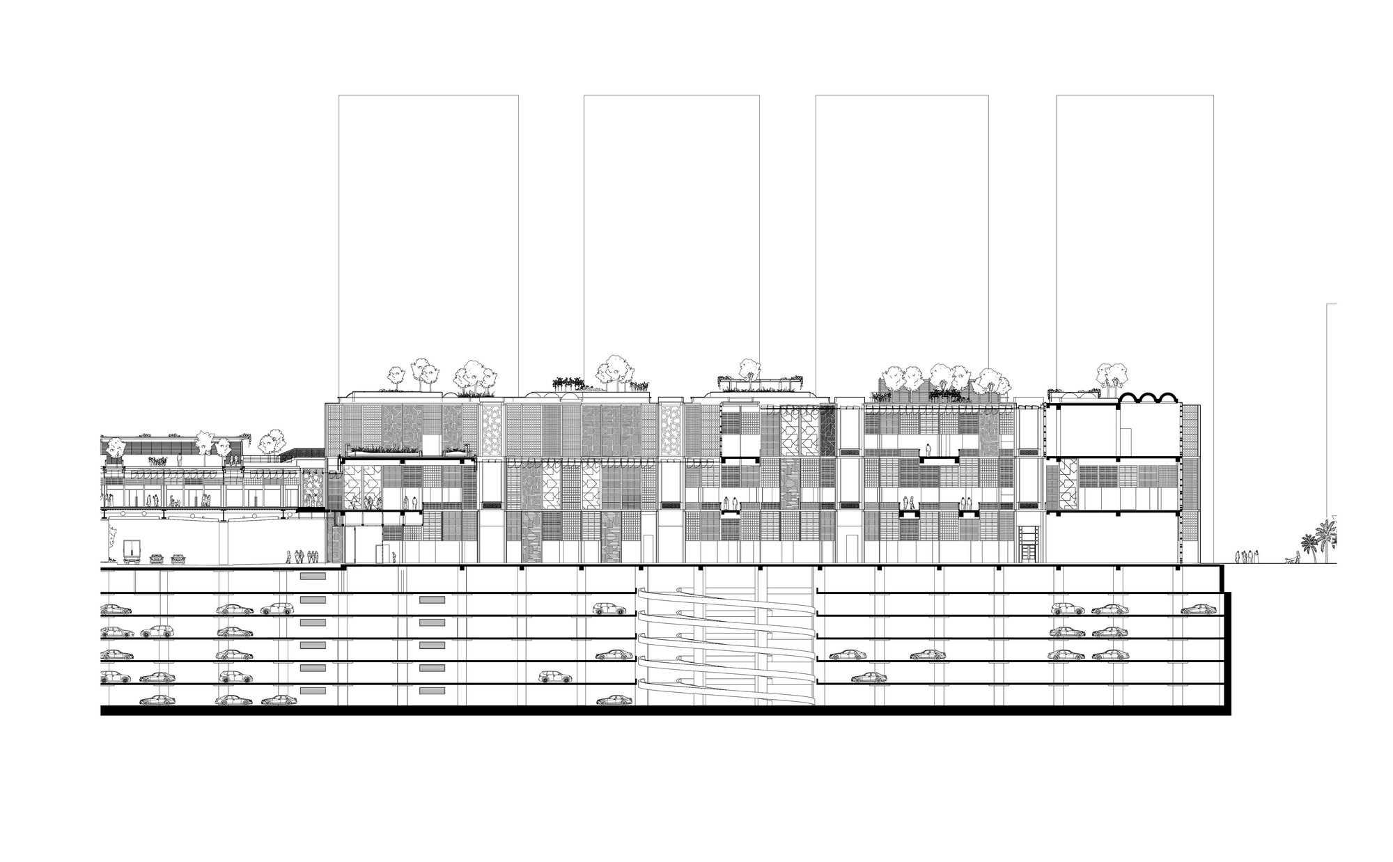 Silver Towers Floor Plans Abu Dhabi Central Market Foster Partners Archdaily