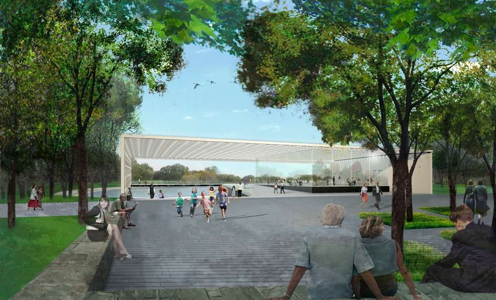 Events Plaza. Image © PWP Landscape Architecture and Rogers Partners