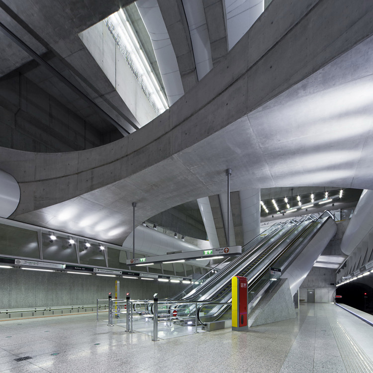 Budapest Underground Line M4 - Kálvin tér Station / PALATIUM Studio, © Tamás Bujnovszky