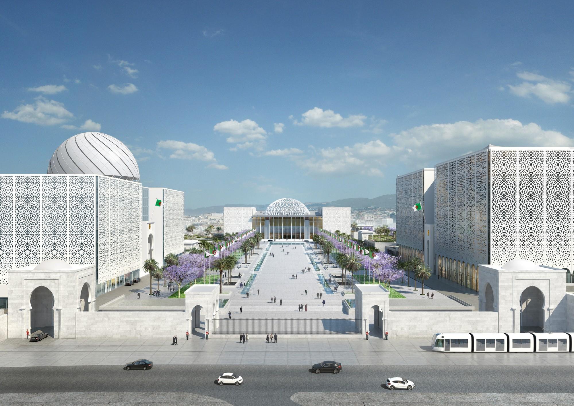 bureau architecture m diterran e designs algerian parliament around a vast plaza archdaily