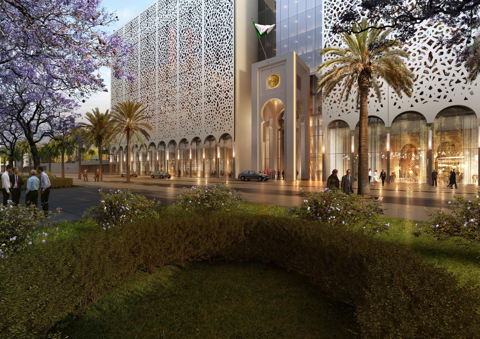 gallery of bureau architecture m diterran e designs algerian parliament around a vast plaza 7. Black Bedroom Furniture Sets. Home Design Ideas