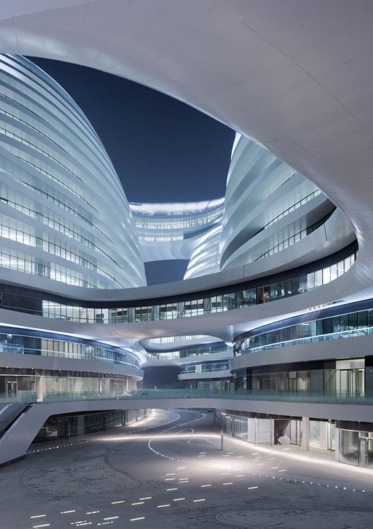 Zaha Hadid's Galaxy Soho has also been criticized for its impact on Beijing. Image © Iwan Baan
