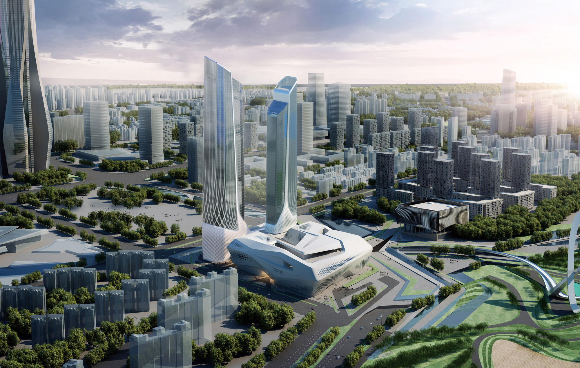 Zaha Hadid and Norman Foster Tapped to Design Luxury Hotels in China , Jumeirah Nanjing. Image Courtesy of Jumeirah Group