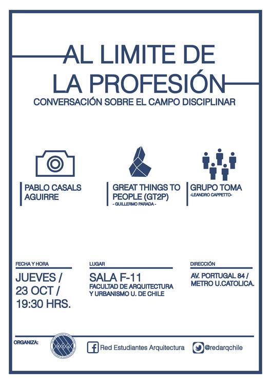 """Charla """"Al límite de la profesión"""" / Santiago, Chile"""