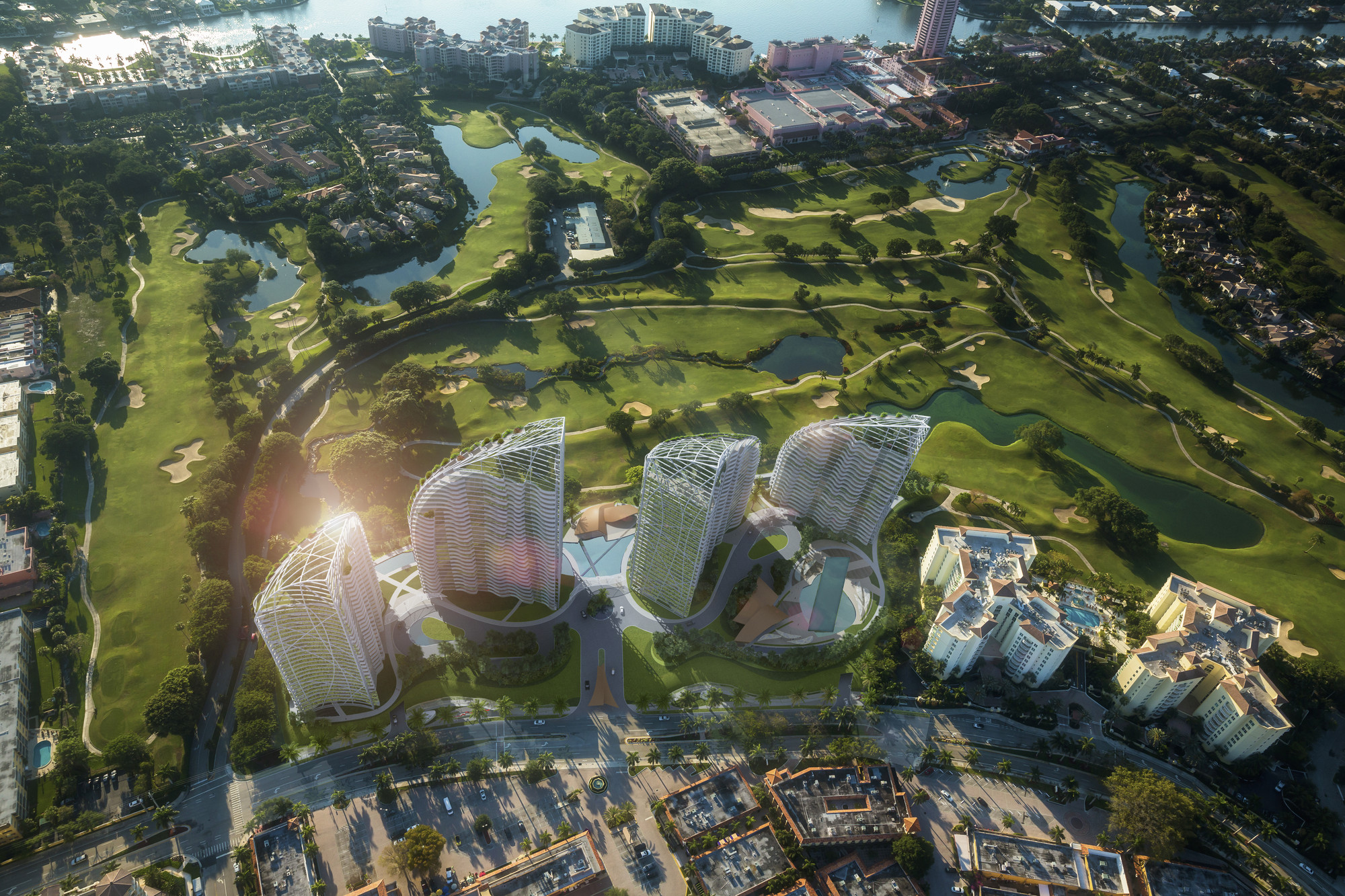 Daniel Libeskind-Designed Condominium Towers Proposed for Boca Raton, © Vingtsix