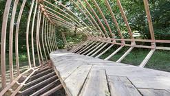 Puente de madera colaborativo, experiencia a escala 1:1
