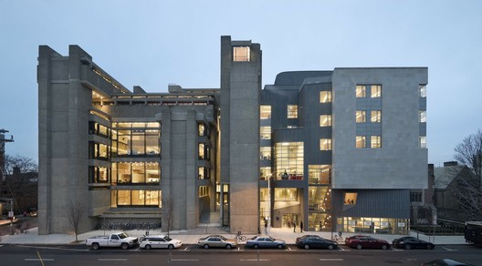 Rudolph Building (formerly known as the Art and Architecture Building) at Yale University. Image © Peter Aaron/Esto