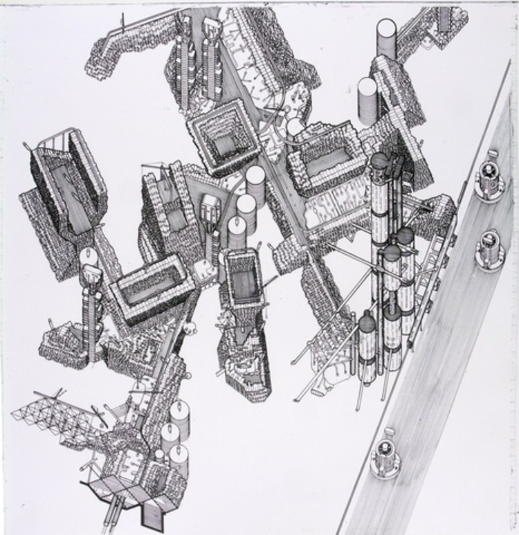 © Plug-In City. Imagen © Peter Cook via Archigram Archives