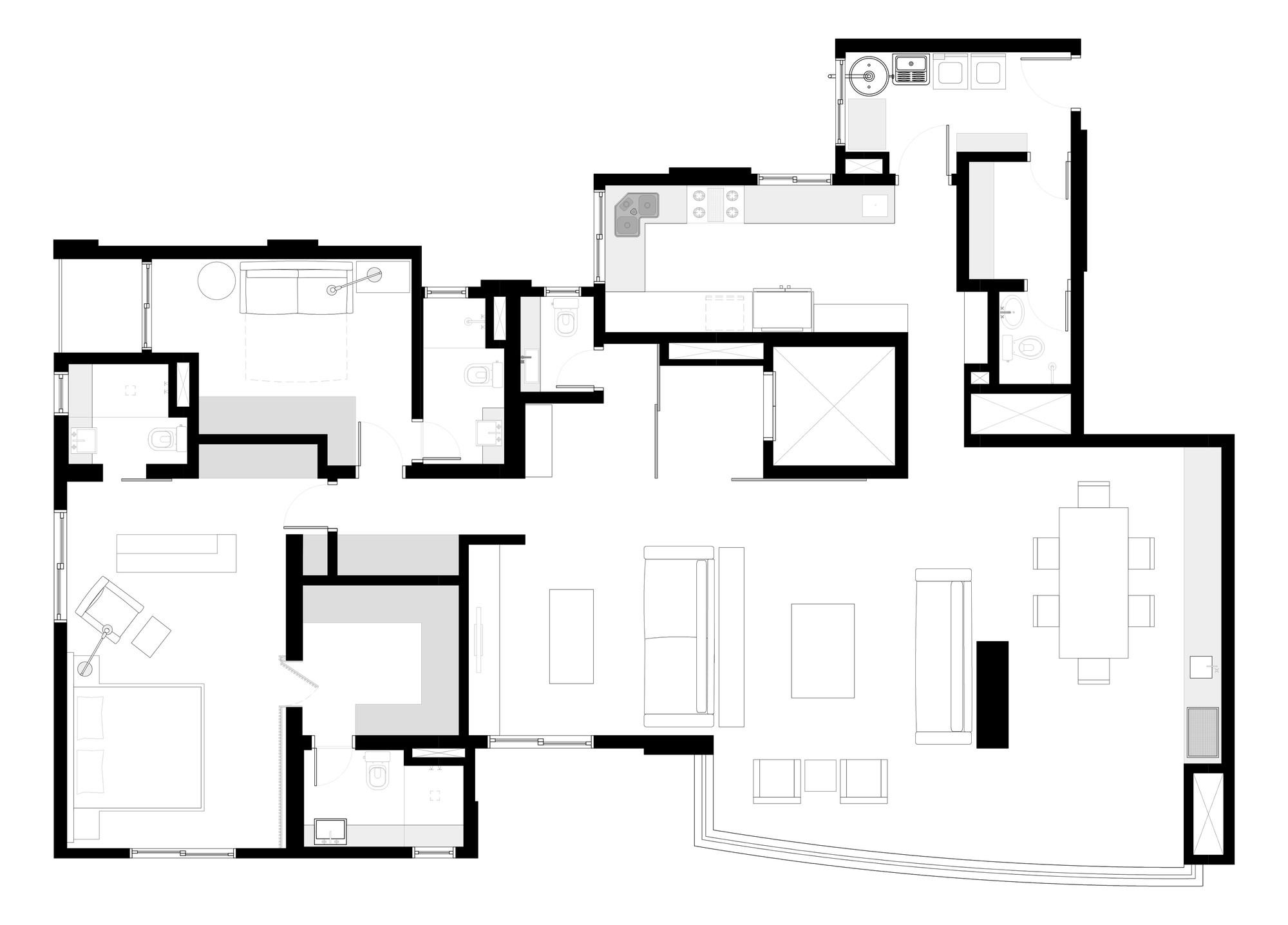 Gallery of am apartment superlim o studio 25 for Large apartment floor plans