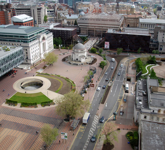 Birmingham's Centenary Square. Image Courtesy of RIBA Competitions