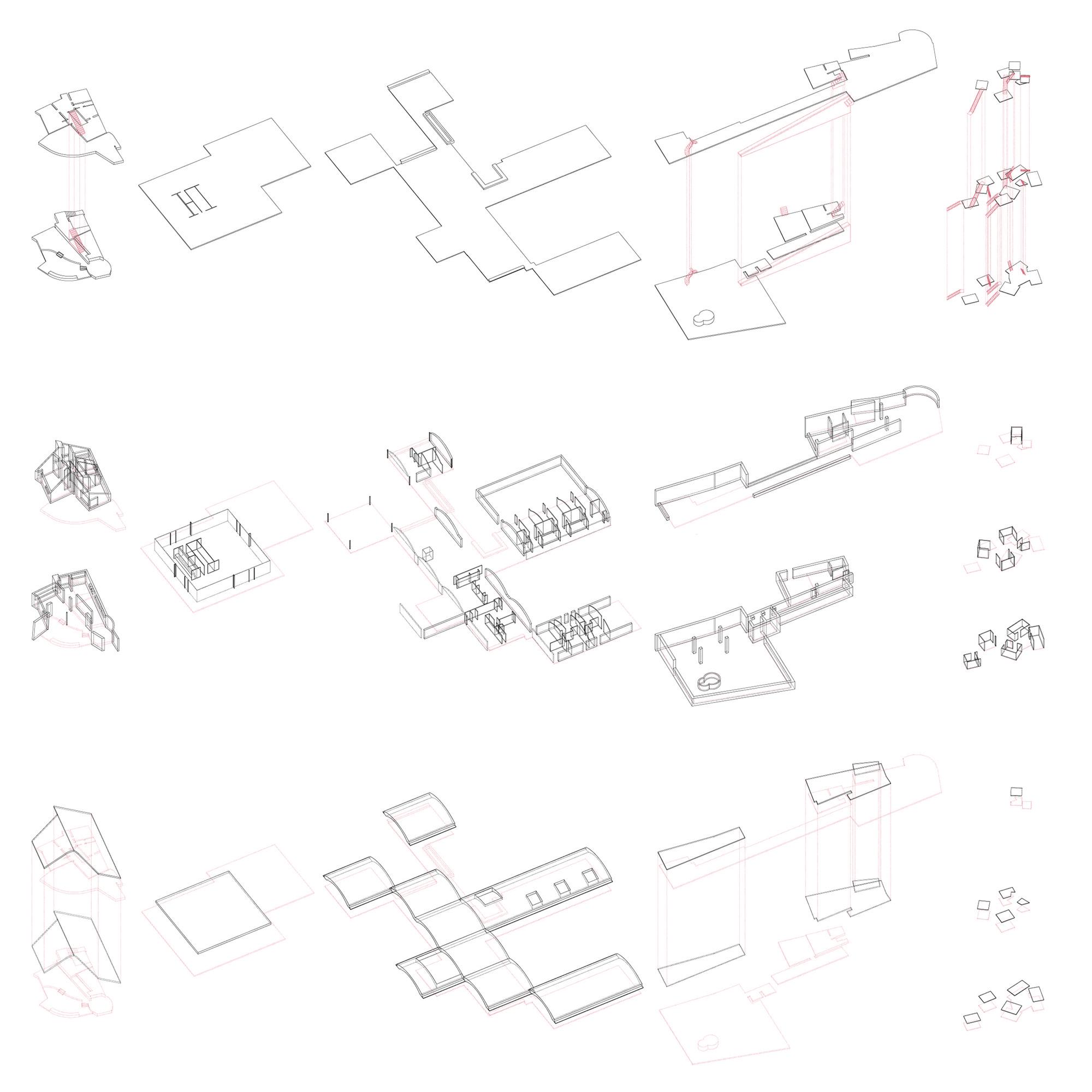 La estructura de sucesos. Estudio de suelos, muros y techos.. Image Cortesia de Damián Plouganou