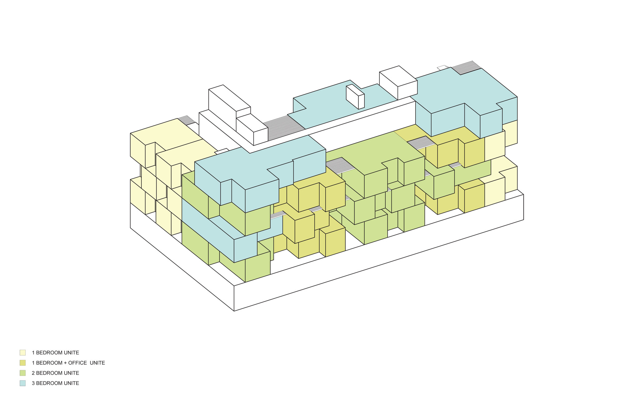 Axonométrica. Imagen © ODA Architecture