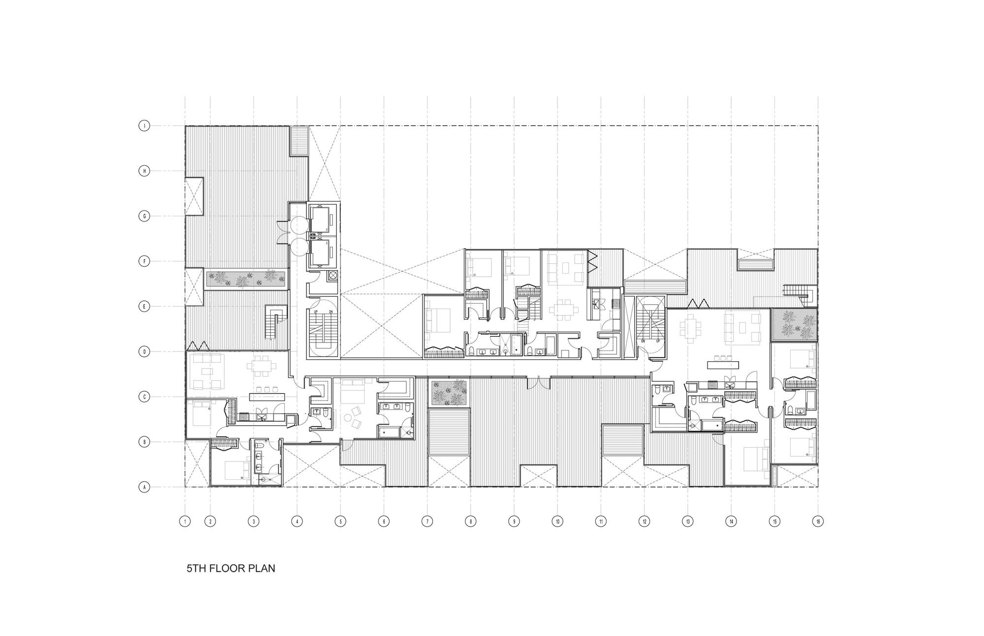 Planta Nivel 05. Imagen © ODA Architecture