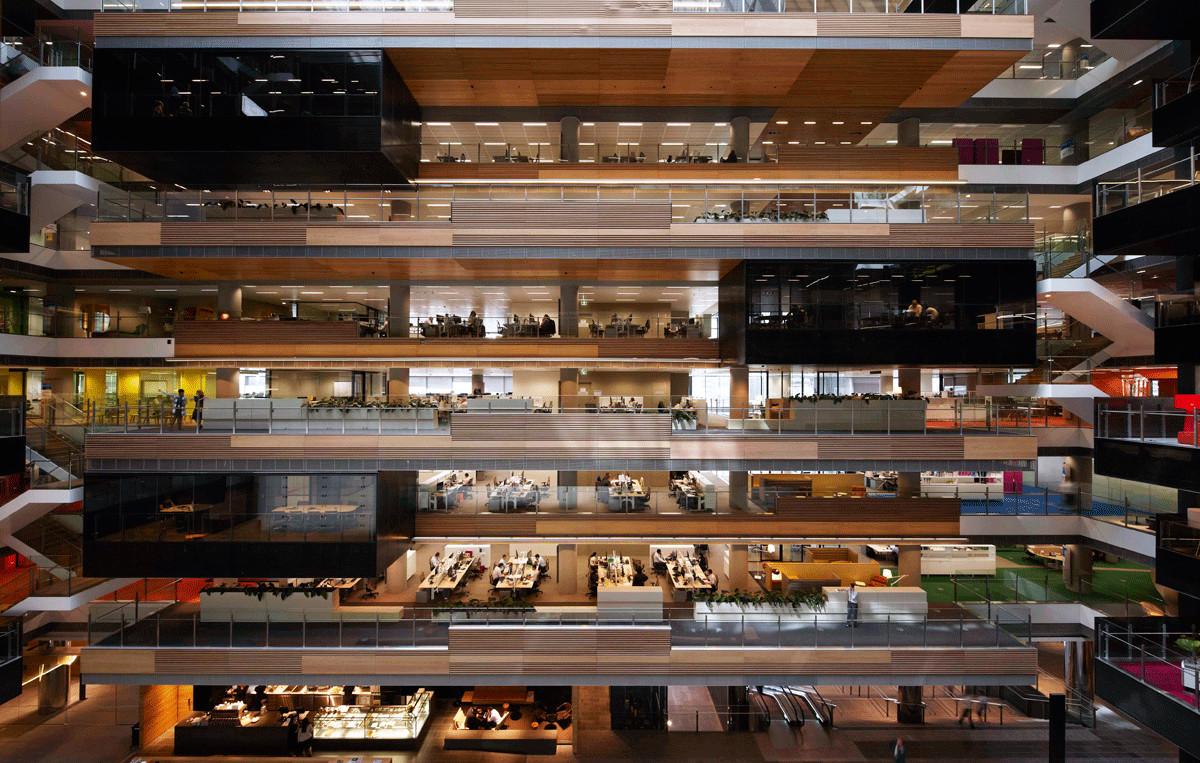 Nuevos espacios de trabajo colaborativo / Dinámicas laborales no resueltas, © Hassel 2014