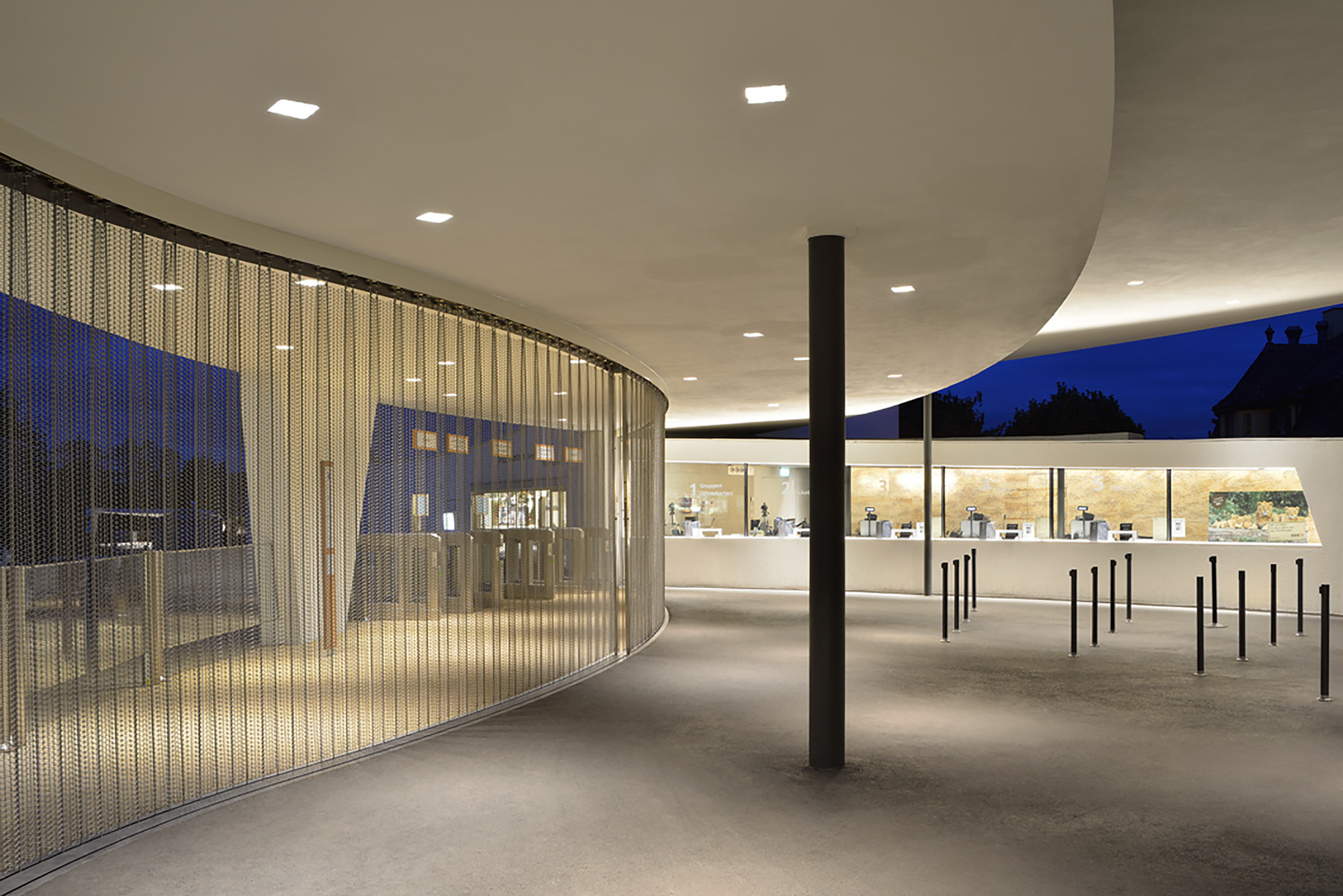 Foyer Interior Zoo : Gallery of zurich zoo foyer renovation extension l p