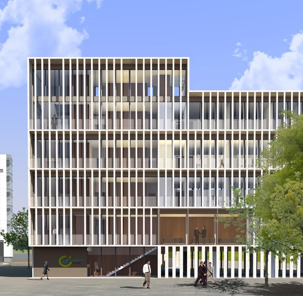 idf habitat headquarters piuarch stefano sbarbati architecte archdaily. Black Bedroom Furniture Sets. Home Design Ideas