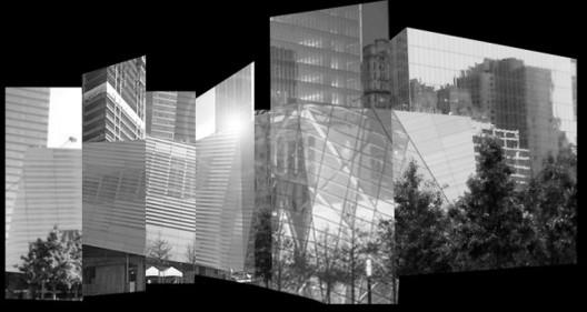Model of National September 11 Memorial Museum Pavilion. Image Courtesy of Snøhetta