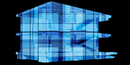 Le Corbusier Dom Ino diagram with generic curtain wall overlay. Image Courtesy of Annabel Koeck