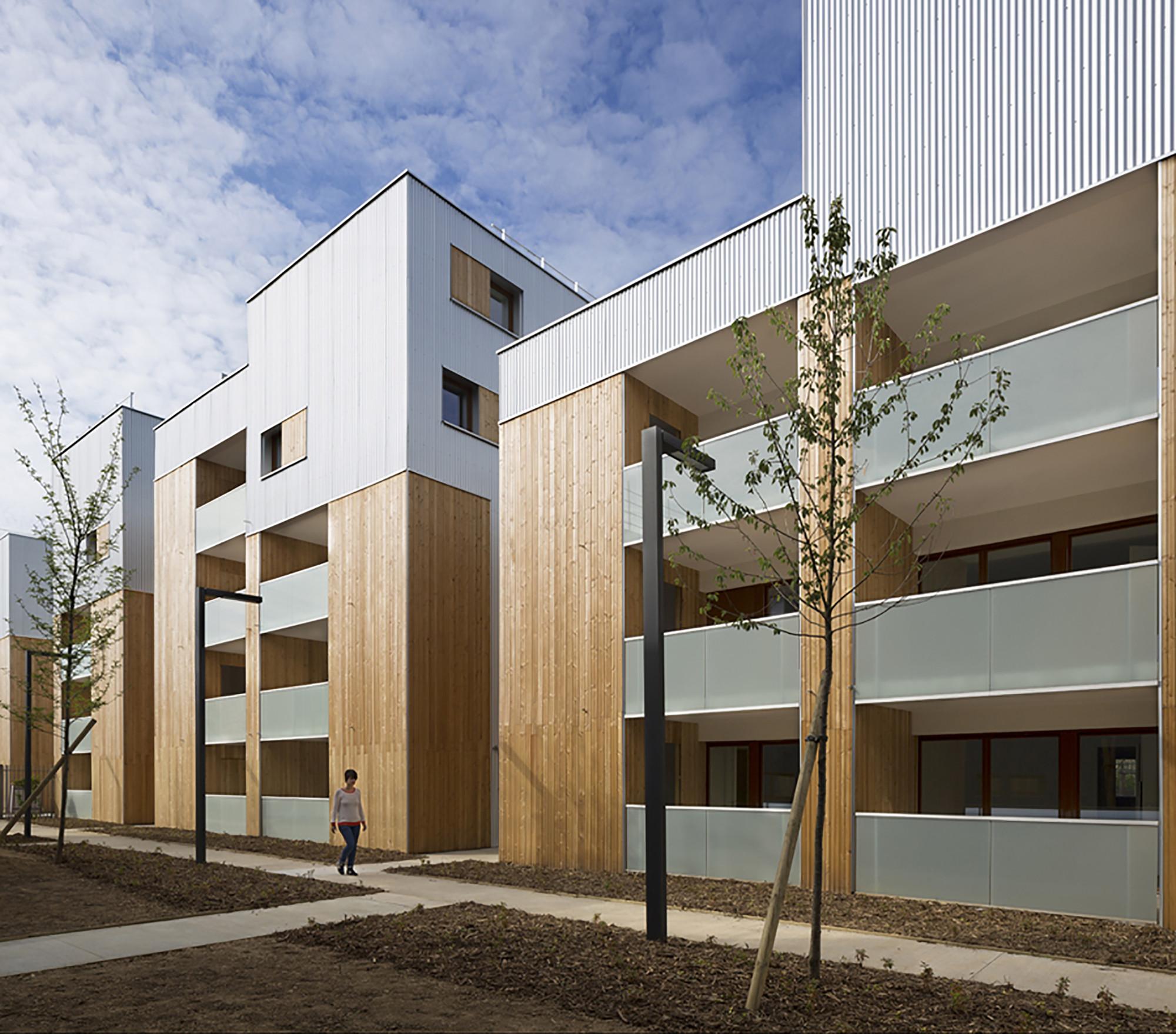 52 unidades de vivienda social en Nanterre / Colboc Franzen & Associés, © Cécile Septet