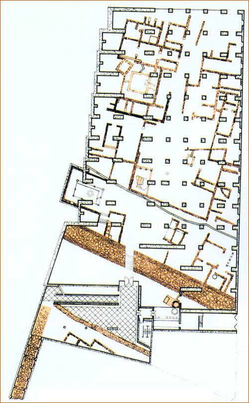 """Planta de la """"cripta"""". Imagen cortesía del Museo Nacional de Arte Romano"""