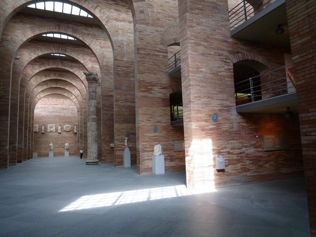ad classics national museum of r art rafael moneo  the central nave image copy flickr user alvaro perez vilarino