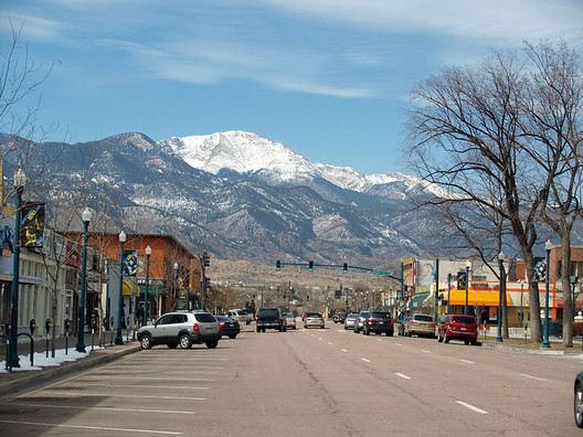 Downtown Colorado Springs via Wikipedia