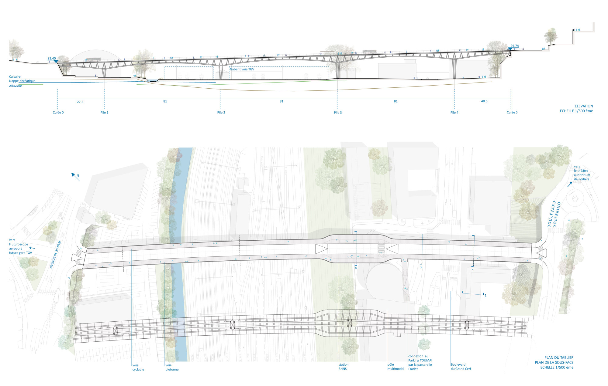 L on blum viaduct bridge rfr archdaily for Low elevation deck plans