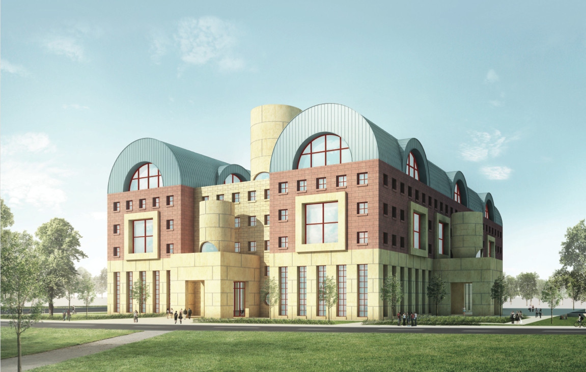 Graves-designed University building planned for Wenzhou. Image © Michael Graves School of Architecture