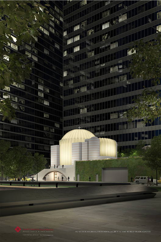 Calatrava inicia construcción de la Iglesia para el Memorial del 9/11 en Nueva York, © Santiago Calatrava