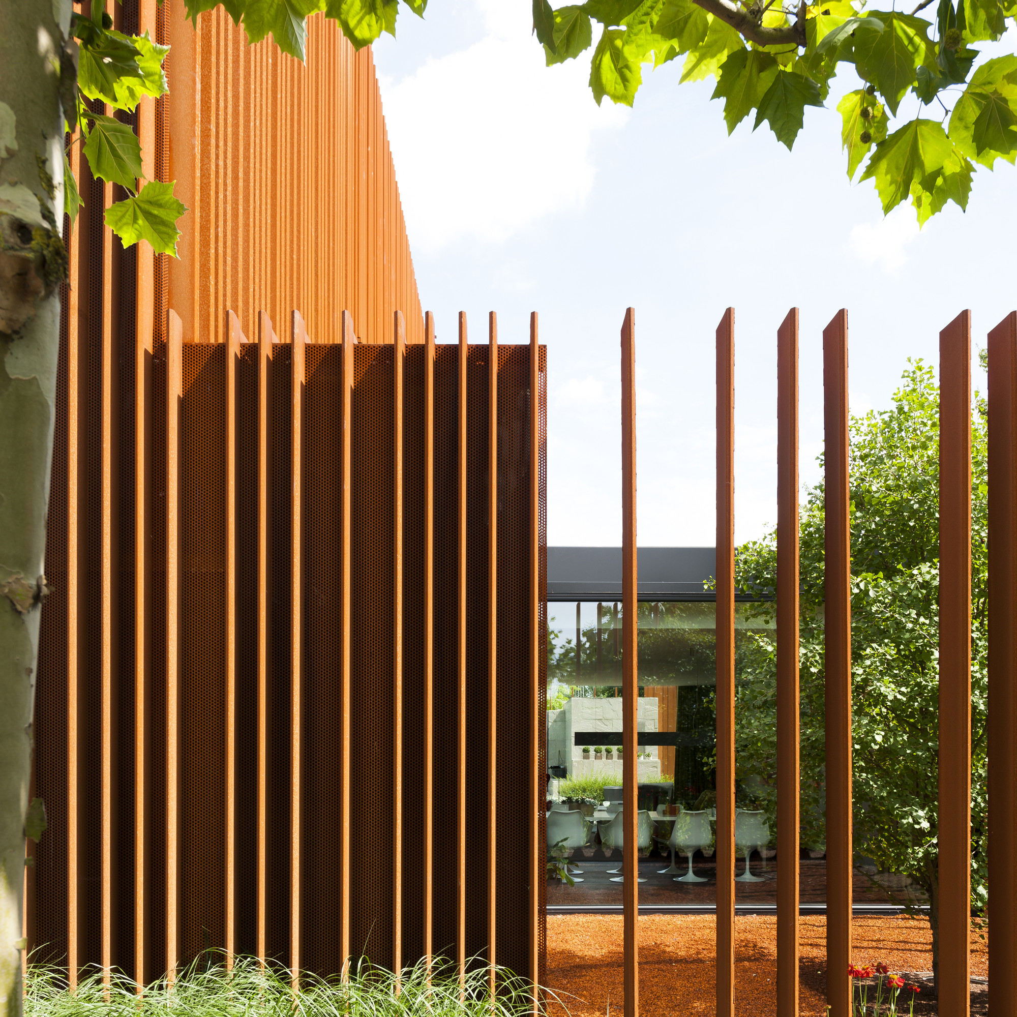 gallery of the corten house dmoa architecten 5. Black Bedroom Furniture Sets. Home Design Ideas