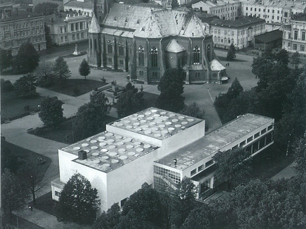 Biblioteca Viipuri (1935). Imagen cortesía de The Finnish Committee for the Restoration of Viipuri Library