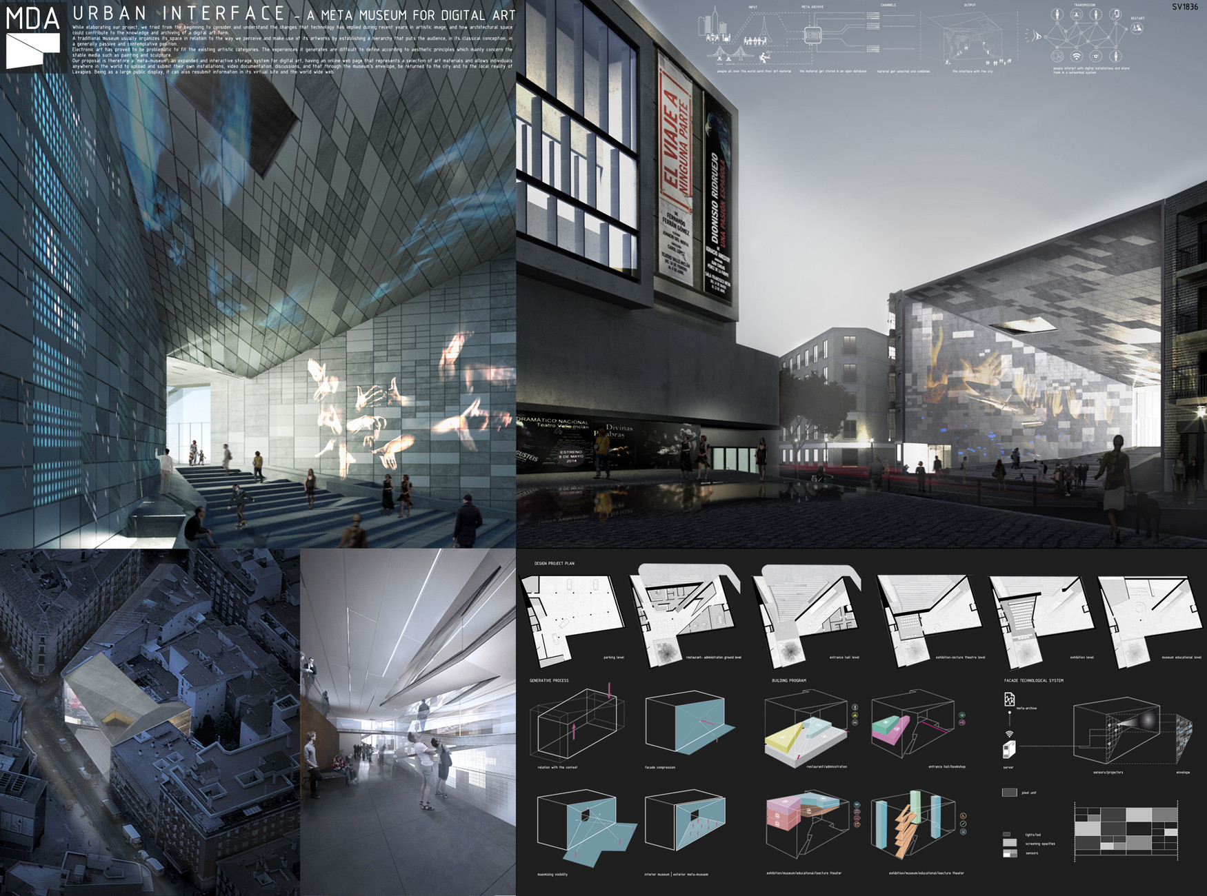 First Prize: Urban Interface / Arch. Michelangelo Vallicelli, Lorenzo Sant'Andrea, Nicolò Troianiello (Rome, Italy). Image Courtesy of Ctrl+Space Architectural Competitions