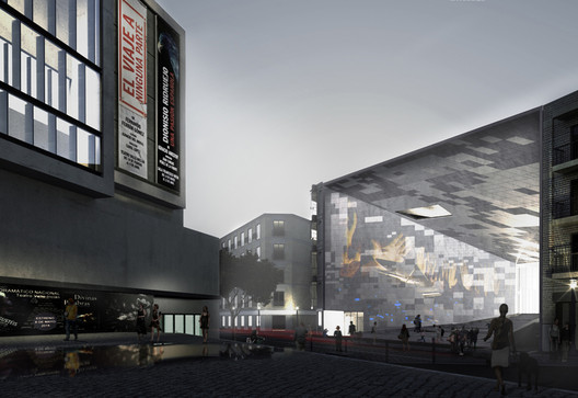 First Prize: Urban Interface / Arch. Michelangelo Vallicelli, Lorenzo Sant'Andrea, Nicolò Troianiello (Rome, Italy). Image Courtesy of Ctrl+Space Architectural Competitions