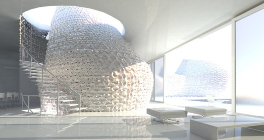 Many groups are working on innovative 3D Printing technologies, such as Emerging Objects' designs for a 3D printed house made from locally harvested salt. Image Courtesy of Emerging Objects
