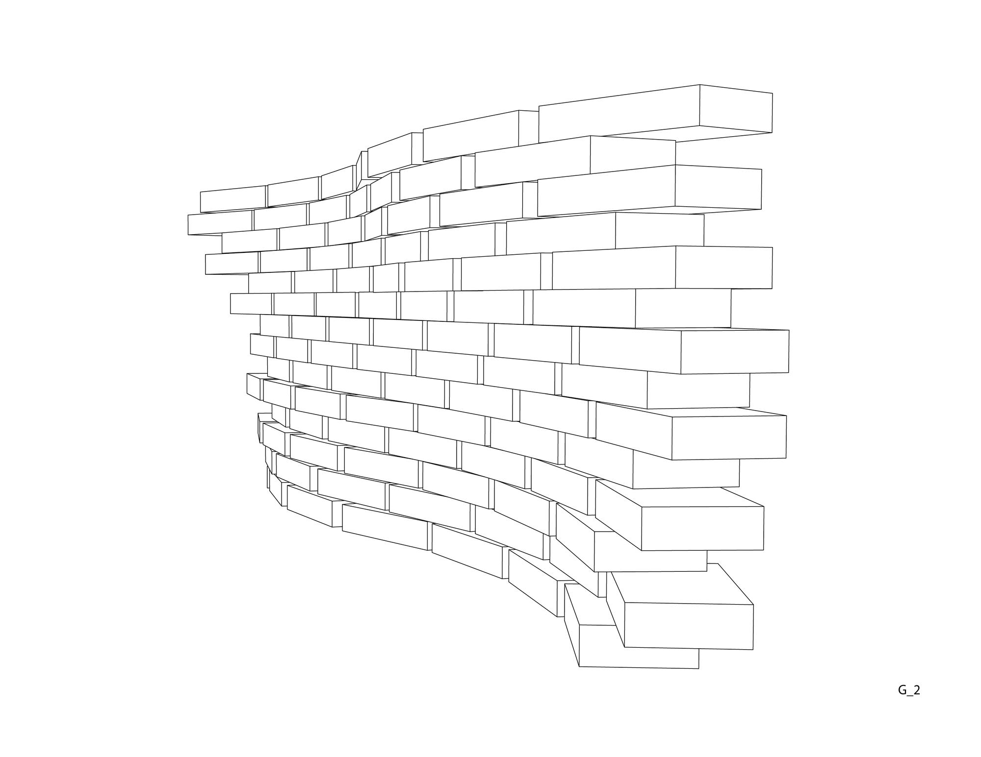 Isométrica: Grupo 2. Image Cortesia de Taller Materialidad 2014 UFSM