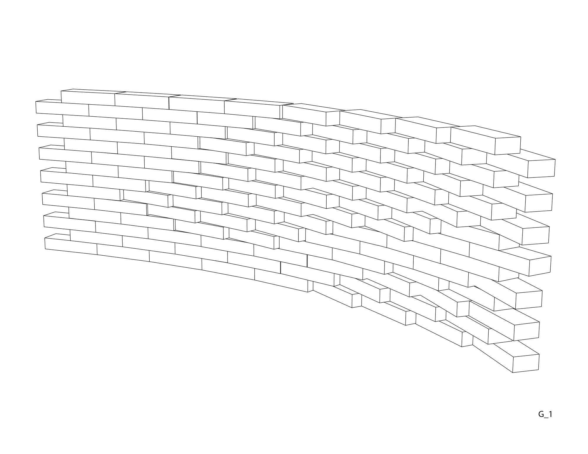 Isométrica: Grupo 1. Image Cortesia de Taller Materialidad 2014 UFSM
