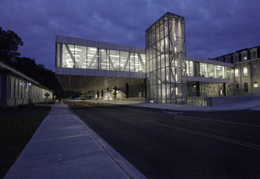 Milstein Hall Exterior View From University Avenue. Image Courtesy of Cornell University