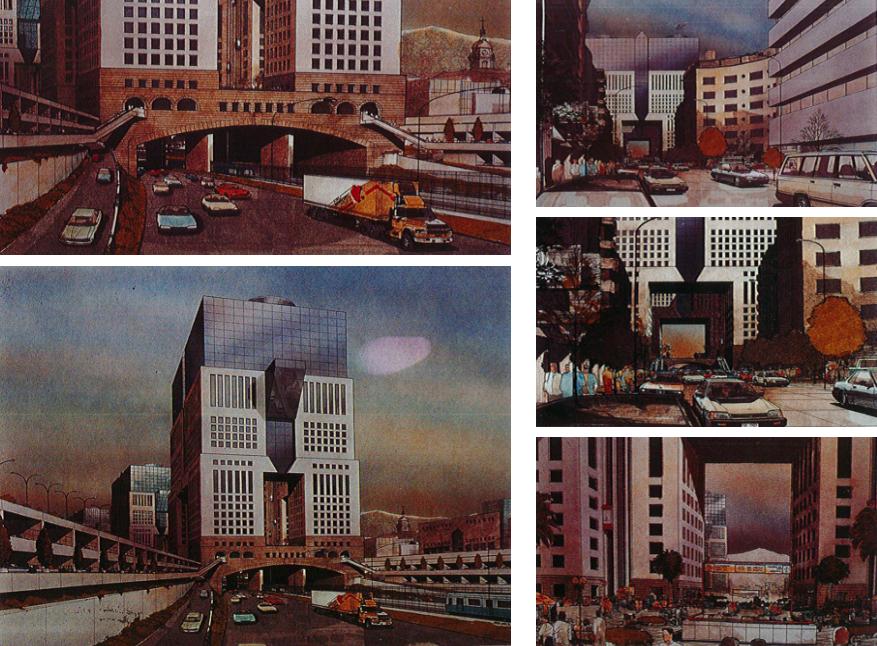 Anteproyecto Refundación Autopista Norte-Sur, Versión 1990. Image Cortesia de Boza + Boza Arquitectos