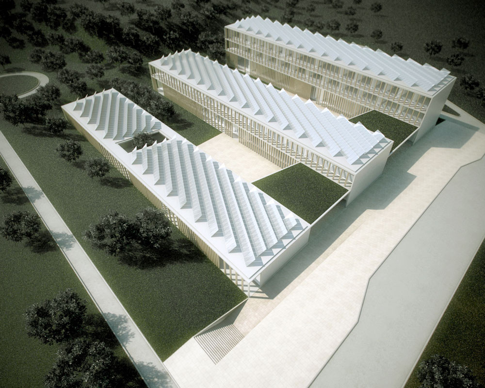 Innovative Bioclimatic European School Complex / Yianna Bouyioukou; Crete, Greece. Image Courtesy of AIA Los Angeles