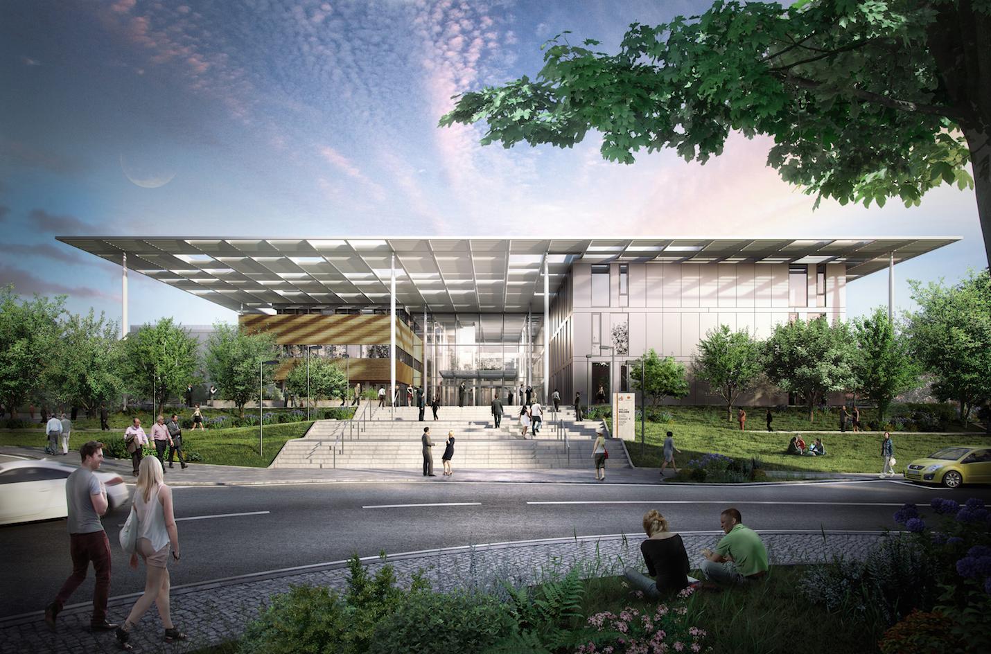 Entrance. Image Courtesy of Bogle Architects