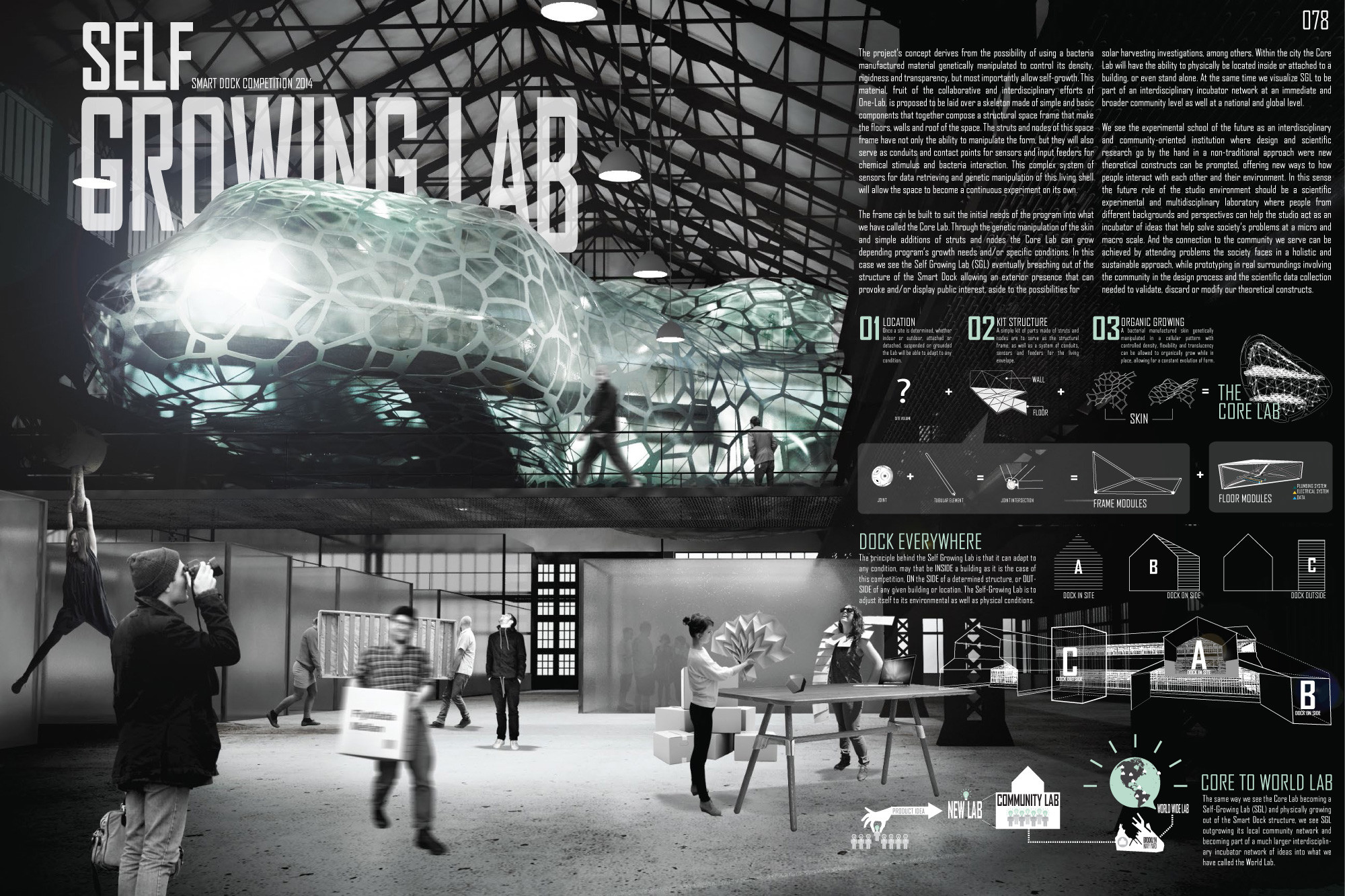 First Prize: SELF GROWING LAB / Victor Diaz, Ariel Santiago, Carlos Garcia, Danniely Staback, Nestor Lebron (San Juan, Puerto Rico). Image Courtesy of Terreform ONE