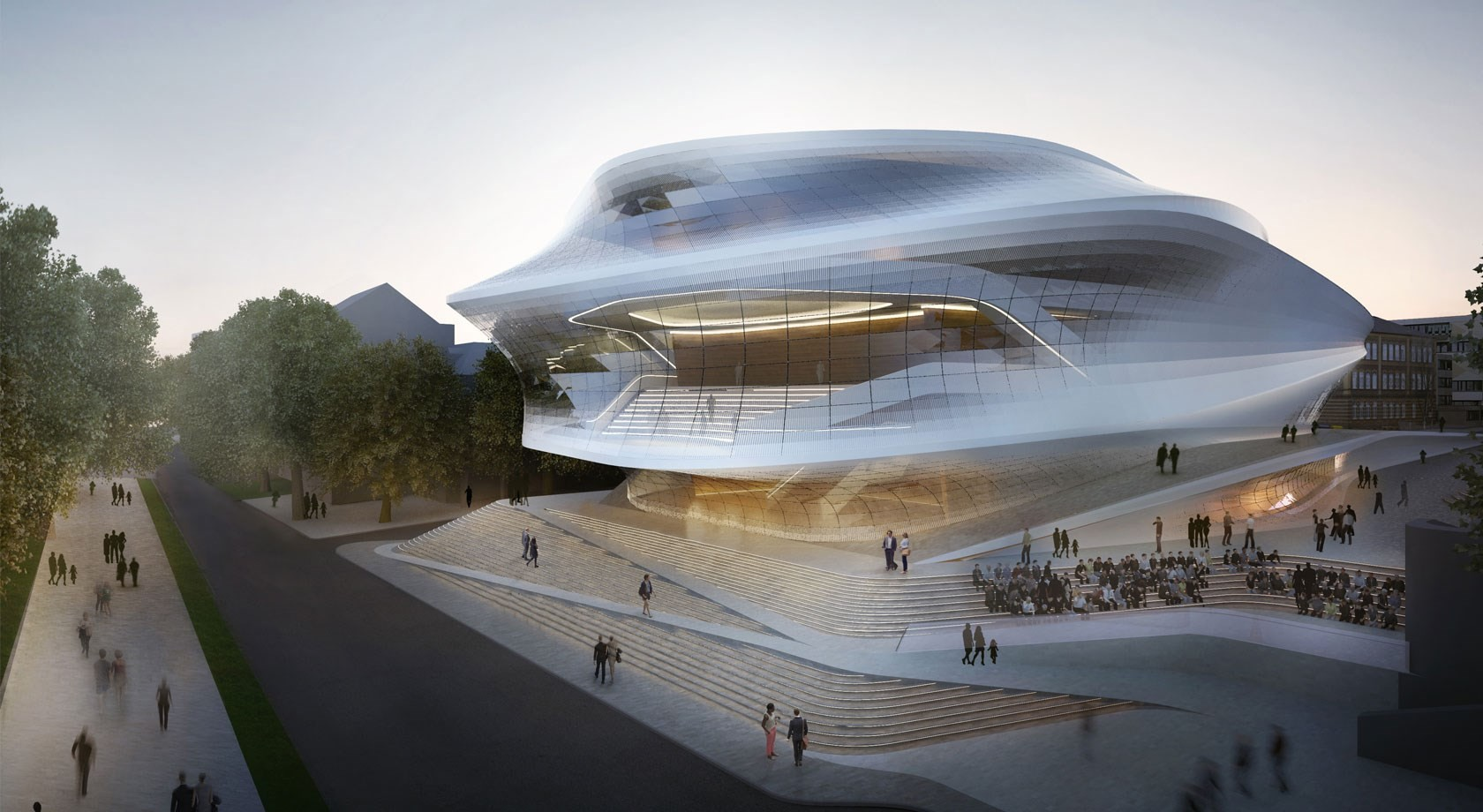 Zaha Hadid Architects. Imágen cortesía de Beethoven Festspielhaus