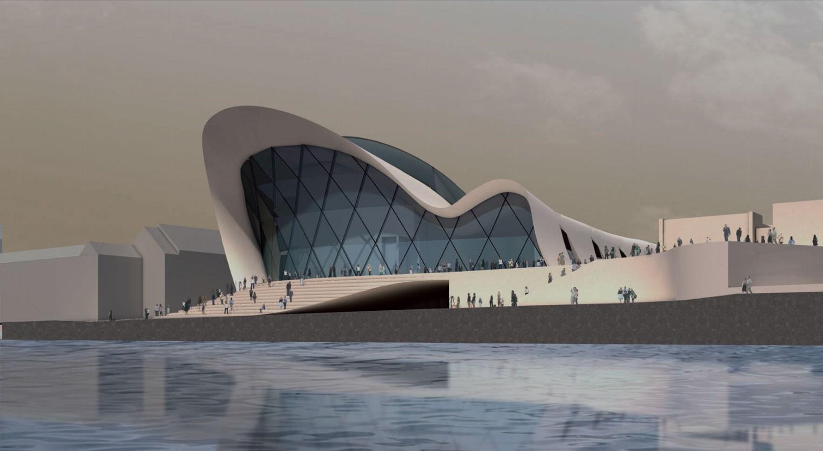 Valentiny hvp architects. Imágen cortesía de Beethoven Festspielhaus