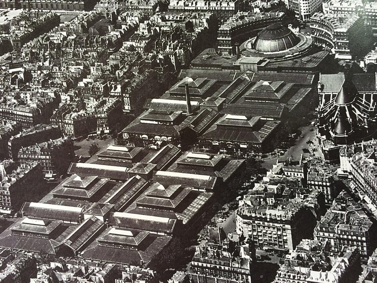 Mercado de Les Halles, terminado de construir en 1936