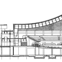 Section through the assembly hall